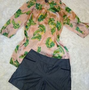 Dressy Flowy top and shorts outfit